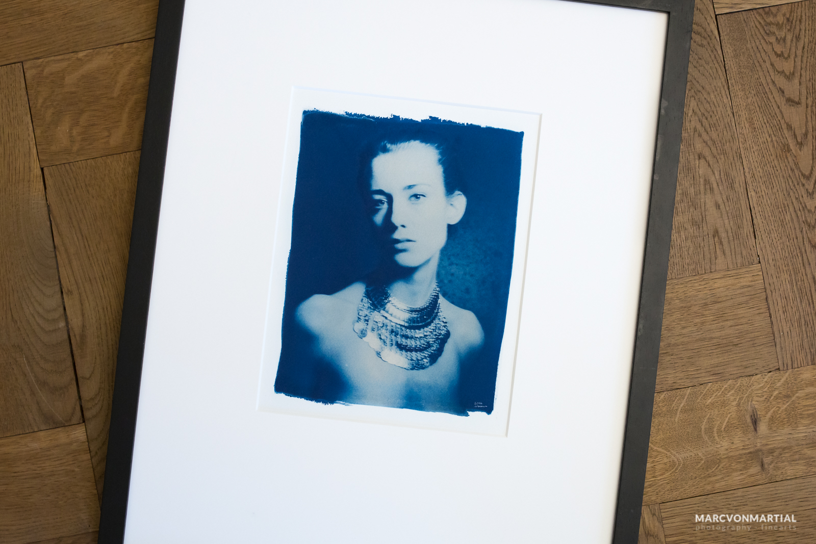 portrait of a muse, cyanotype